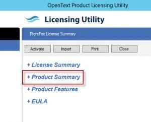 RightFax_Product_Licensing_Screenshot