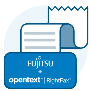 OpenText_RigthFax_Fujitsu_Logo